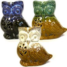 Gift Wrapped Wise Owl Ceramic  Burner complete with 2 x melts